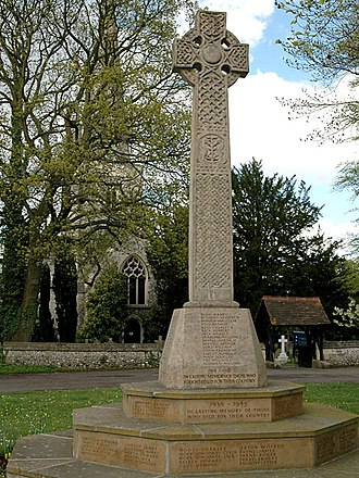 Celtic cross - Kingswood war memorial
