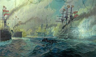 The Battle of Lissa on July 20, 1866