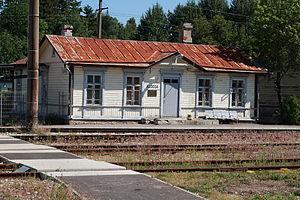 Klooga - Image: Klooga raudteejaama peahoone