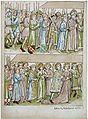 Konstanzer Richental Chronik Bilder vom Weihnachtsgottesdienst, Prozession zum Münster 19v.jpg