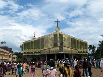 Koratty - Korattymuthy - Shrine of Our Lady with Poovan Bananas (Poovankula Matha.)