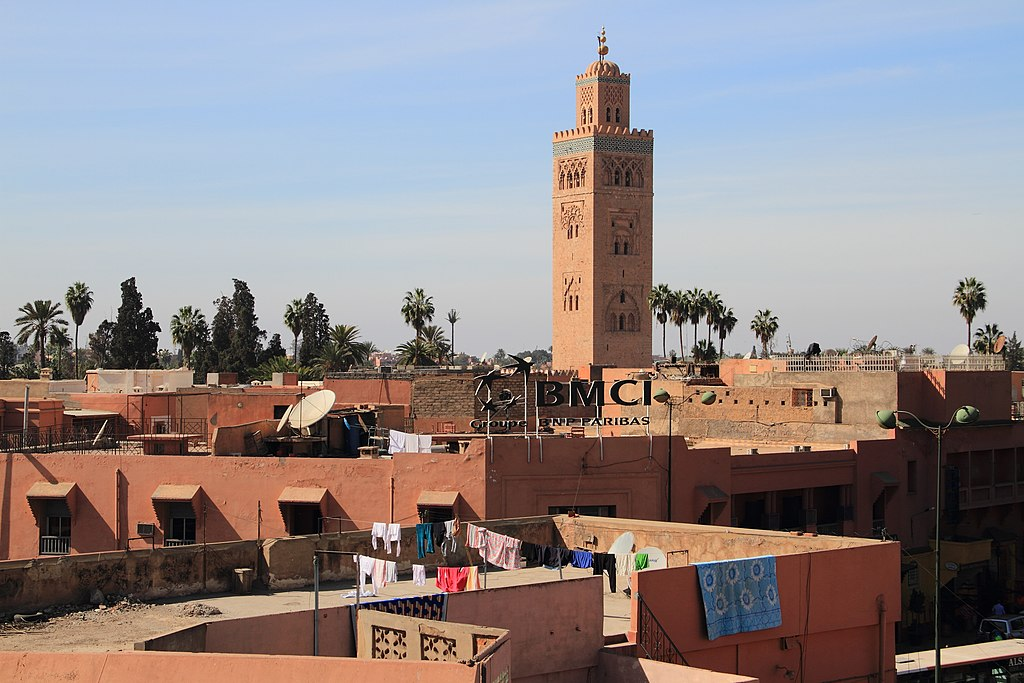 Koutoubia minaret from the city