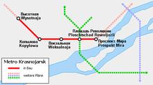 Самая простая, и в то же время достаточно понятная схема первой линии. здесь пусковой участок метро обозначен еще как...