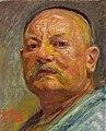 Kristian Zahrtmann, Selvportræt i lampelys, 1916. Fuglsang Kunstmuseum.jpg