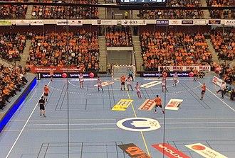 IFK Kristianstad - A match between Kristianstad and HK Malmö in December 2014