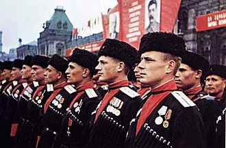 Headgear - Kuban cossacks in Russian papakhis