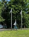 Lüdinghausen, Flugplatz Borkenberge, Skulptur am Eingang -- 2014 -- 00596.jpg