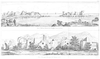 Corycus - Views of the Fortress and ruins of the town (c. 1860)