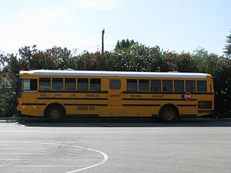 Los Angeles Unified School District - LAUSD school bus