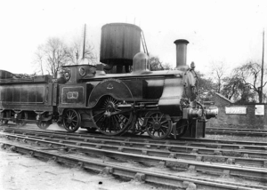 LNWR Lady of the Lake Class - No. 1 Saracen at Nuneaton in 1904, as rebuilt by Webb.