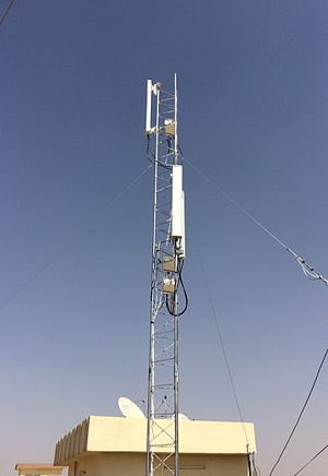 LTE Advanced - An LTE Advanced Base Station installed in Iraq for Broadband Wireless Internet Service Provision