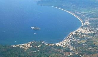 La Peñita de Jaltemba - Aerial view of La Peñita de Jaltemba, Rincón de Guayabitos, and the Isla Coral