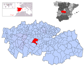 Location of La Puebla de Montalbán
