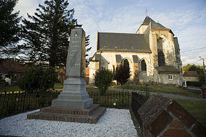 Labroye - The monument to the dead and church of Labroye