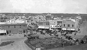 Lacombe, Alberta - Downtown Lacombe in 1908
