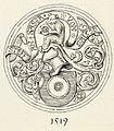 Ladislav Benesch - Grb posode za hostije z letnico 1519 iz cerkve v Kranjski gori.jpg