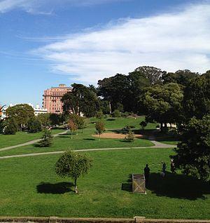 Lafayette Park (San Francisco) - Lafayette Park from the park's western edge
