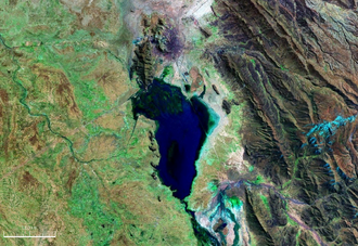 Uru Uru Lake - Image: Lago Uru Uru Bolivia Satellite map 67.09971W 18
