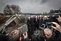 Lancement travaux extension ligne D tramway vers Kehl Strasbourg 26 février 2014.jpg