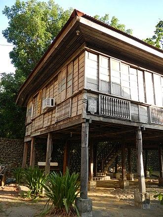 Nipa hut - Bahay Kubo elevated through wooden posts