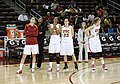 Laura Beeman and USC basketball players in 2011.jpg