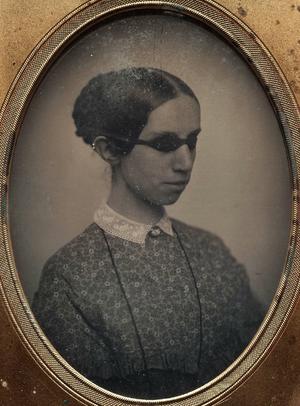 Laura Bridgman - Bridgman circa 1855. Daguerreotype by Southworth & Hawes