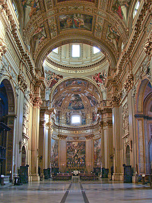 Sant'Andrea della Valle - Interior of the church.