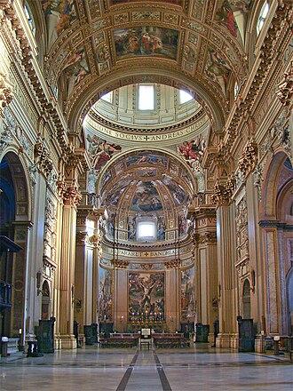 Sant'Andrea della Valle - Interior of the church.