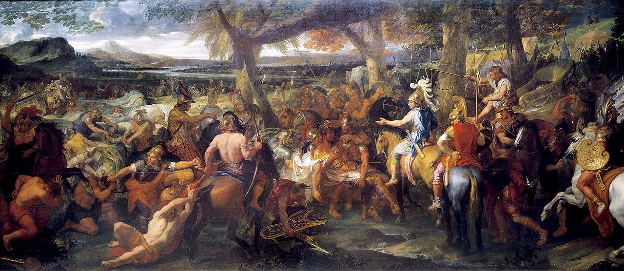 「アレクサンドロス大王とポロス王」(シャルル・ルブラン)