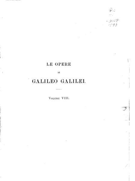 File:Le opere di Galileo Galilei VIII.djvu