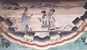"""Madame White Snake"" Picture on long veranda in the Summer Palace,Beijing,China."