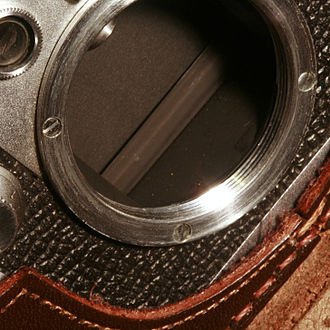 M39 lens mount - Detail of the mounting of a Leica IIIf