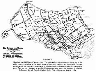 Leluh archaeological site - Lelu - archaeological map