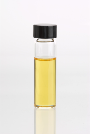 Glass vial containing Lemongrass Essential Oil