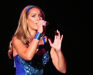 "Happy (Leona Lewis song) - Lewis performing ""Happy"" on the tour The Labyrinth."