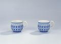 Ler- och stengods. Koppar. Vita med blå dekor. 1700-talets slut - Hallwylska museet - 89094.tif