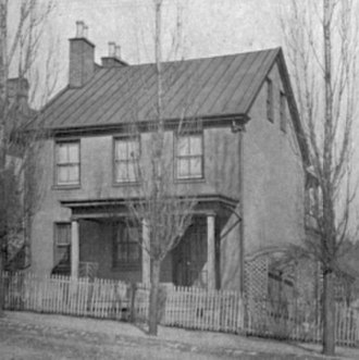 William Henry Letterman - Letterman's home in Canonsburg, Pennsylvania.