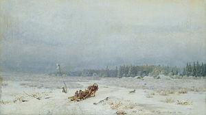 Lev Lvovich Kamenev - Image: Lev Kamenev Winter Road