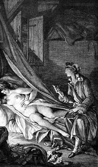 Les Liaisons dangereuses - Illustration by Fragonard for Letter XLIV, 1796