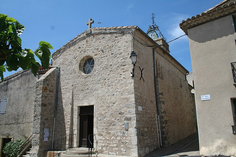Lieuran-Cabrières (Hérault) - église Saint-Martin - façade