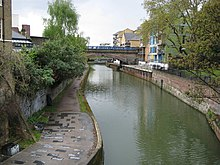 Limehouse cut, connecting the Lee Navigation to the Thames Limehouse Cut (2) - geograph.org.uk - 788025.jpg