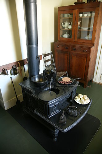 Wood-burning stove - A 19th-century example of a wood-burning stove