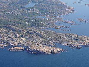 Lindesnes - Aerial view of the southern coastline of Lindesnes