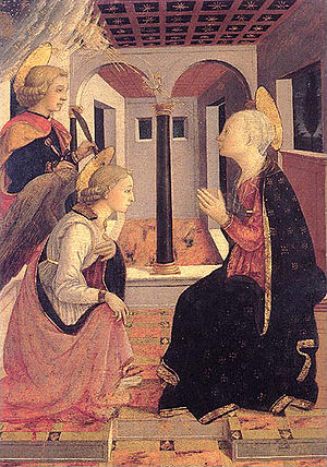 The Annunciation with Saint Julian