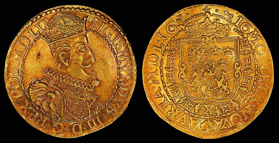 Lithuania 1616 10 Ducats