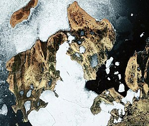 Satellitenbild von Little Cornwallis Island