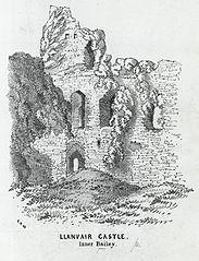 Llanvair Castle, Inner Bailey
