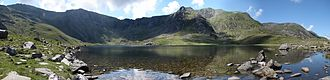 Headwall - Headwall and corrie lake Cwm Idwal
