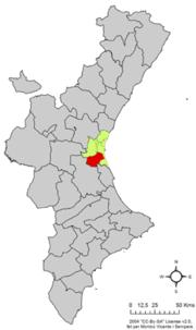 Localització de l'Horta Sud respecte del País Valencià.png