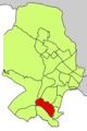 Localització de la Bonanova respecte del Districte de Ponent.png